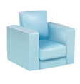 Blue armchair vector image