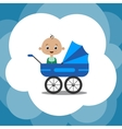 Cute cartoon baby boy vector image