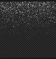 falling snow backgroundabstract snowflake vector image