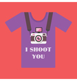 I shoot you vector image