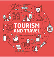 lines background tourism and travel vector image