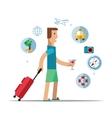man traveler travel concept vector image