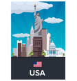 travel poster to usa flat vector image
