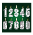 numeral birthday candles vector image
