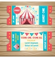 Circus Event Tickets vector image vector image