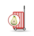 trolley shop juicy pear fruit vector image