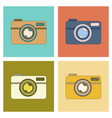 assembly flat icon technology camera vector image