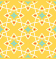 yellow arabic ornamental ceramic tile vector image