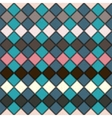 rhombus seamless grunge background in retro colors vector image