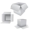 3D Box Set vector image