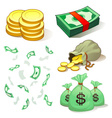 money and coins vector image