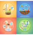Biotechnology And Genetics 2x2 Design Concept vector image