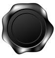 black wax seal vector image