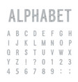 creative paper alphabet vector image