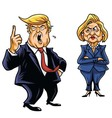 Donald Trump Vs Hillary Clinton vector image