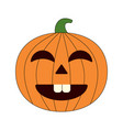 happy halloween cartoon pumpkin vector image