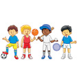 kids in various sport activity vector image