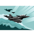 military aircraft vector image