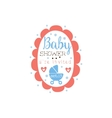 Round Frame Baby Shower Invitation Design Template vector image