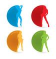 Sexy woman icon vector image