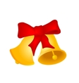 Two Christmas hand bells vector image