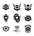 Moto wheel Logo Symbols vector image