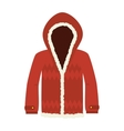 red jacket winter clothes vector image
