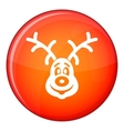 Christmas deer icon flat style vector image