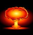 bomb blast in style comics cartoons vector image