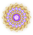 mandala brooch jewelry design element tribal vector image