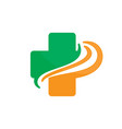 cross organic colored logo image vector image