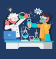 laboratory assistants work in scientific medical vector image