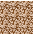 Seamless brown pattern vector image
