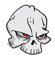 skull 1 vector image
