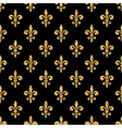 Golden fleur-de-lis seamless pattern black 2 vector image
