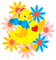 Happy Chick vector image vector image
