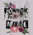 letters - romantic nature with floral elements vector image