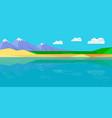 natural landscape in flat vector image