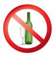 no alcohol drink sign prohibition icon ban liquor vector image