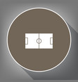 soccer field white icon on brown circle vector image