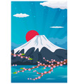 travel poster to japan flat vector image