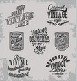 vintage retro labels on grey bacground vector image