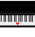 Heart love music piano vector image