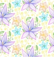 Blue and violet flowers seamless pattern vector image vector image
