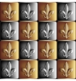 gold and silver seamless pattern the royal lily vector image