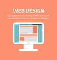 Flat design concept for web design for web vector image