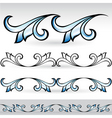 abstract form set vector image vector image