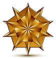 3d classic royal symbol sophisticated golden star vector image