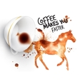 Poster wild coffee horse vector image vector image