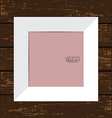White Picture Frame with Wooden Background vector image